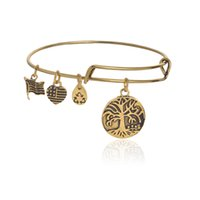 antique gold filled bangle bracelet - Multi style antique gold and silver plated alex and ani bracelets bangle for women cheap factory directly