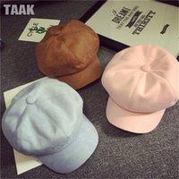 Wholesale Berets Hats for Men Women Spring Autumn Winter Fashion Suede Pumpkin Painter Hats Caps High Quality Colors