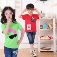 Wholesale Summer New Children T Shirts Boys Kids T Shirt Teen Clothing For Boys Girls Baby Clothing Girls T Shirts