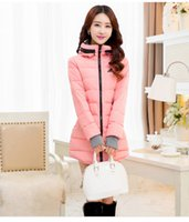 ad standard - 2017 new AD hot sales high quality women winter Cotton long section Hooded Slim jacket Down jacket multi color size l xl