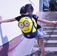 backpacks stores - Minions backpacks Inches store A4 ipad Kindergarden bag movies cartoon vivid eye printed lining comfortable straps