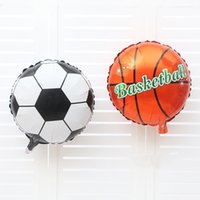 basketball birthday supplies - Foil Balloons Party Decoration x45cm Football Basketball Balloons Aluminum Film Foil Balloon Wedding Birthday Party Supplies