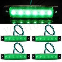 Wholesale 4x Green LED Side Marker Indicator Light Lamp V for Lorry Truck Trailer Boat New