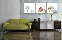 animal actor - Home decoration unframed Pieces Canvas Prints Cartoon Chinese opera actors tulips Lotus leaf newlyweds Jade mountain flower