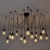 Wholesale Adjustable DIY RH Designer Loft American country industrial Warehouse Edison Vintage Spider Ceiling Lamps for Home L1150