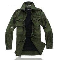 Wholesale men long sleeve shirts Army tooling cotton thickening jacket shirt asia size M XXL