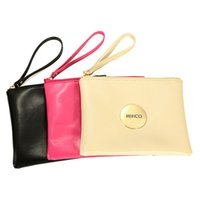 Wholesale 2016 MIMCO Medium Pouch Small Black White Large MIMCO Patent Leather Wallet Handbag For Women Clutch Bags MIMCO Purse Travel bag