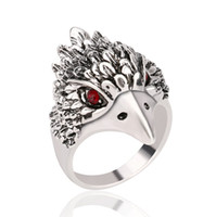 american silver eagle - 2016 European and American fashion hot retro Antique Silver men ring domineering Eagle head Thai Silver Ring