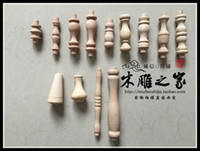 bamboo fencing wholesale - Dongyang wood carving wood cabinet cabinet decoration small small gourd head cylindrical column of Rome bridge wood fence post