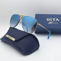 Wholesale Dita sunglasses new Commemo DT Decade two sunglasses women brand designer metal square shape retro men design Usher oversize gold plated