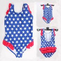 Wholesale 2016 SUMMER HOT STYLE High grade Baby Star Print swimming suit Nylon child environmental protection Swimwear one pieces style