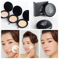 face power aqua press - Korea CE three Aqua eye Yingrun Whitening Oil Control Pressed Powder Concealer whitening thin silty Dingzhuang