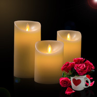 Wholesale Christmas lights AAA Battery led moving wicks candle Flameless LED Tealight Tea Candles Light Wedding Birthday Party Christmas set