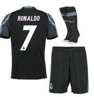 army men sets - Real Madrid suit socks kits soccer jersey uniform home away men sets Maillot DE foot because James bale benzema kroos modric fo