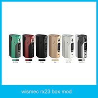 Wholesale Wismec Reuleaux RX23 Mod w RX23 box mod fit or cells with rx23 battery cover Reuleaux RX2 vape mod