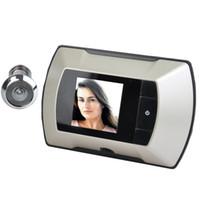 Wholesale 2 quot LCD Wide Angle Electronic Door Peephole Peep Hole Visual Monitor Wireless Viewer Camera Video Puertas Camara Doorbell
