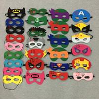 america performance - Costume Party masks halloween cosplay masks kids superman captain america batman felt mask for cartoons masks new arrival