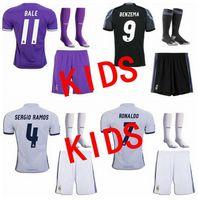 Wholesale KID KID The New quality kids Boys kit Football Shirts