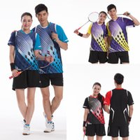 Wholesale Badminton Set Tshirt Shorts Quick Dry South Korea Team Sportswear Badminton Set T4700 T