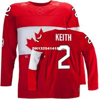 Cheap Retro throwback #2 DUNCAN KEITH Team Canada Jersey OLYMPIC HOCKEY Fast free shipping Customize any size player name number