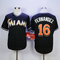 Wholesale Marlins Jose Fernandez Black Baseball Jerseys Discount Cheap Men s Baseball Uniforms Baseball Shirts Stitched Name and Number In Stock