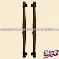 aluminum wooden door - Goodlink topsystem copper copper aluminum alloy door handle lock push pull handle HK antique wooden OB