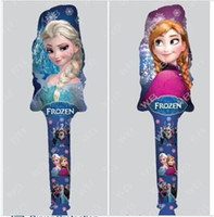 Wholesale 2016 cheering stick balloon clappers inflatable balloon stick Party Wedding decoration Cartoon Frozen Elsa Anna Balloon C001