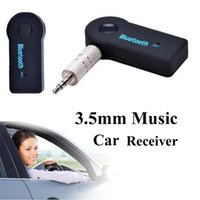 Wholesale Universal mm Streaming Car A2DP Wireless Bluetooth Car Kit AUX Audio Music Receiver Adapter Handsfree with Mic For Phone MP3 OTH273