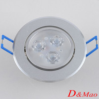 Wholesale Hot Sell Recessed Downlight W Led Ceiling Light White Warm White Spot Light Ceiling Lamp AC100 V Study Bed Room Indoor Lighting