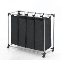 Wholesale Black Heavy Duty Bag Laundry Sorter Cart Hamper Organizer