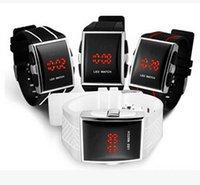 Precio de Gifts-Drop ¡Hombres regalo de la fecha de lujo digital del deporte LED reloj con luz roja