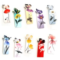 Wholesale Stationery Colorful Mini Paper D Stereo Butterfly Flower Bookmarks for Girls Women Gifts Mixed Color
