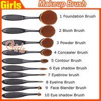 Wholesale AAA quality Makeup Brushes Set Multipurpose Mermaid Toothbrush Foundation Powder Soft Face Brushes Professional Makeup Tools