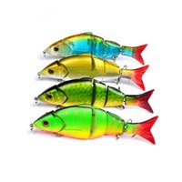 Wholesale Hot Color cm g Multi Jointed Bass Plastic Fishing Lures Swimbait Sink Hooks Tackle high quality fishing lures DHL