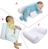 Kapok baby positioner pillow - New Baby Infant Newborn Sleep positioner Anti Roll Pillow With Sheet CoverNew Baby Infant Newborn Sleep positioner Anti Roll Pillow With She