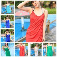 bathing suit sarong - Summer Beach Dress Bikini Swimwear Cover Up Sarong Sexy Wrap Pareo Beach towel Bathing Suit Swimsuit Bikini Cover Up color LJJK428