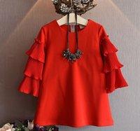american comfort clothing - 2016 Red Black New Dresses Comfort Girl Fashion Princess Gauze Bow Vest Dress Girls Child Clothes Cute Kid Dresses Children Clothing F0004
