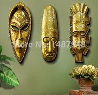 african wall mask - 2015 European decorative resin wall stickers igures of African masks wall hanging creative decorative wall ornament