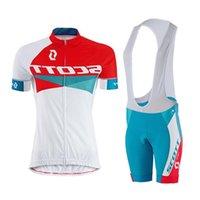 anti reflective - 2016 Women Scott Cycling Jerseys Short Sleeve Anti Shrink Clothing With Bib Short XS XL Available ST026