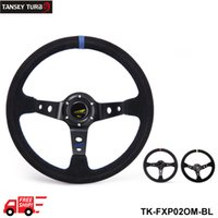 Wholesale Tansky mm inches Modified steering wheel Suede leather steering wheel automobile race steering wheel steering wheel TK FXP02OM FS