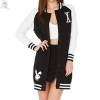 Wholesale Black White Contrast Color Block Long Coat Outwear Letter Single Breasted Loose Casual Oversized High Street Women Autumn