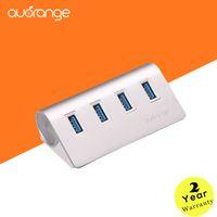 Wholesale USB Hub Cable auorange High Speed Port For PC Laptop Macbook Aluminum