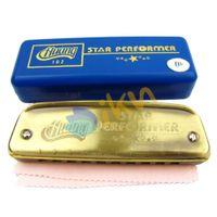 bb harmonica - NEW Huang Diatonic Hole Tone Blues Harmonica Bb Key Mouth Ogan Musical Instrument