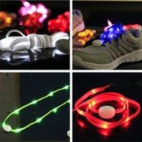 Cheap 2016 Newest LED Lamp beads Flashing Shoe Lace Fiber Optic Shoelace Luminous Shoe Laces Light Up Flash Glowing Shoeslace 100pcs=50pairs