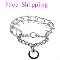 Wholesale New Arrival Professional Metal Pinch Dog Training Chain Collar Prong Pet Choke Collars