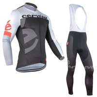 Wholesale 2015 Cervelo Cycling Jerseys Long Sleeve Autumn Style For Men With Padded Bib None Bib Pants Top Class Lycra Breathable Cycling Clothes