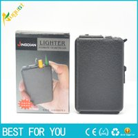 automatic cigarette lighter - Novelty flame oil lighter automatic popup Cigarette case retail Gift EC0F
