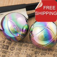 baoding balls exercises - Solid mm baoding iron ball chrome and golden super palm exercise stress relief balls Health supplements No box
