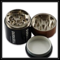 battery smoke machine - Battery Case Shaped Grinder Metal Parts Layer Herb Grinder Crusher Machine Tool pc Hand Mullers Box For Smoking
