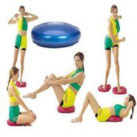 Wholesale Free DHL Yoga Balance Disc ball Fitness Stability massage cushion Wobble Air Cushion Board Ankle Knee Rehab